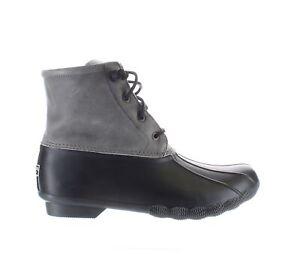 Sperry Top Sider Womens Saltwater Black/Grey Rainboots Size 9.5 (2091214)