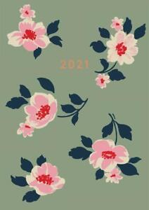 Cath Kidston: A6 Khaki Dusk Floral 2021 Diary, Excellent, Diary