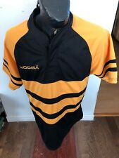 Mens Large Kooga Rugby Jersey Black and Yellow Blank