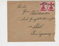 Germany Leezen 1920 to Kiel Two Cancels Stamps Cover Ref 31801