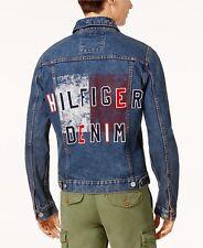 New $170 TOMMY HILFIGER Embellished Jean Tracker Jacket...