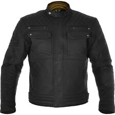 Oxford Hardy Waxed Cotton Motorcycle Motorbike Jacket - Black 2xl