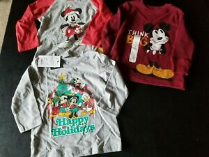 Mickey Mouse Toddler Boy Shirts lot Christmas 18 months New