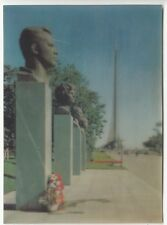 3D Lenticular Space Gagarin Moscow Alley of cosmonauts   Postcard