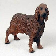 IRISH SETTER Red Dog HAND PAINTED FIGURINE Resin Statue COLLECTIBLE Puppy NEW