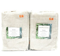 """Set Of 2 SEATTLE TIE TAB WINDOW CURTAIN PANEL, NATURAL, 50"""" X 84"""""""