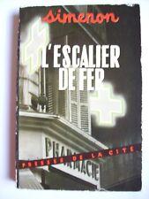 Georges Simenon l'escalier de fer roman édition originale 1953