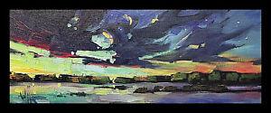 HAWKINS Beautiful Night Sky Impressionism Nocturne Landscape Oil Painting Art