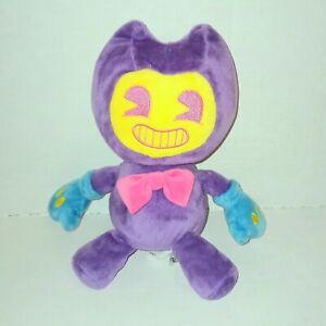 Bendy and The Ink Machine Blacklight Plush Purple Neon blue hands
