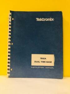 TEK 070-1751-02 7B92A Dual Time Base Instruction Manual
