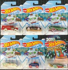 Hot Wheels 2018 HW Holiday Hot Rods Full Set Of 6 Includes Happy New Year 2019