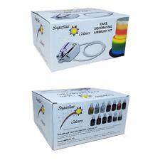 Sugarflair Kit Aérographe pour la Décoration de Gâteaux et 12 Couleurs Liquides