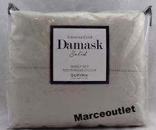 Charter Club Damask Solid 550 Thread Count KING Sheet Set Parchment