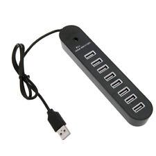 8 Port USB 2.0 Data HUB High Speed Splitter Extender Built-In USB Cable