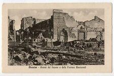 MESSINA ROVINE PIAZZA DEL DUOMO e FONTANA TERREMOTO 1908 CARTOLINA 1910/20