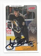 2001-02 Upper Deck Victory #285 Janne Laukkanen (autographed)