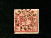 Altdeutschland Bayern ab 1849 - MiNr. 9             3 Kr           (3)