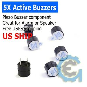 5pcs 5V Active Buzzer Electromagnetic Continous Beep for Arduino Alarm PIC Robot