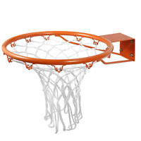 Outdoor Rust-Proof Powder-Coated Basketball Rim Heavy Duty Door & Wall Mounted