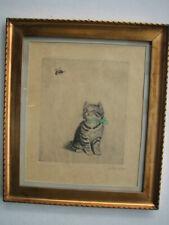 Plückebaum Meta, Katze mit Biene, Orig. Radierung, signiert