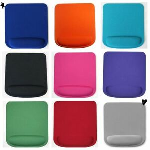 SQUARE PREMIUM ANTI SLIP MOUSE MAT WITH WRIST SUPPORT FOR LAPTOP PC MANY COLOURS