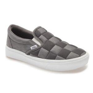 NEW VANS ComfyCush Autism Awareness Mens Gray Slip On Skateboarding Shoes 7.5