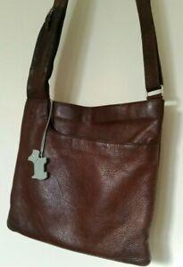 Radley  Leather  Pocket  Crossbody Messenger Brown Shoulder Bag Large