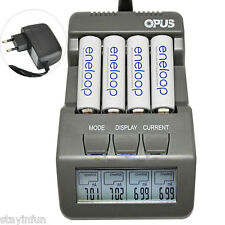 Opus bt-c700 4 Fente Intelligent AA AAA Chargeur pour NiCd NiMH batterie