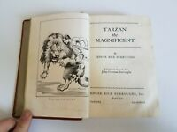 Book Tarzan the Magnificent Edgar Rice Burroughs 1939 Hardcover