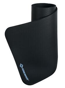 Schildkröt Fitness Mat - schwarze Gymnastik Matte - 15mm dicke Fitness Matten