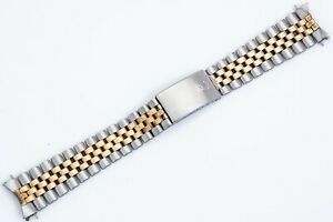 Vintage ORIGINAL 6252H14 Rolex Swiss Stainless & 14k Jubilee Bracelet 20mm Ends!