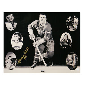 MAURICE RICHARD Signed Montreal Canadiens 16 X 20 Photo - 79150