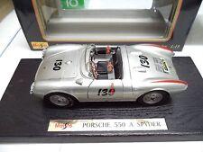 """""""LITTLE BASTARD"""" Porsche 550 A SPYDER #130 JAMES DEAN Custom Built 1/18 Maisto"""