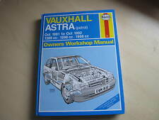 VAUXHALL ASTRA 1991-1992 Haynes Owner's Workshop Manual , ONE OWNER FROM NEW