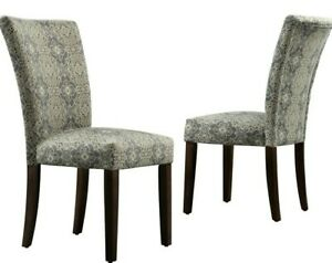 Sture Damask Upholstered Dining Chair, Set of 2,