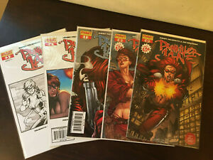 Painkiller Jane, Lot of 5 comic books, # 0 (2 covers), 1, 2, 3. Dynamite Comics