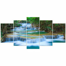 Large Canvas Print Painting Picture Photo Wall Art Home Dec Green Blue Landscape