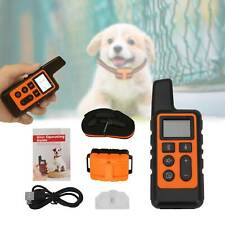 800m Waterproof Dog Pet Training Collar Rechargeable Electric Shock LCD Display