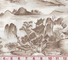 Ametex Cidalia Sepia Toile Print Drapery Fabric