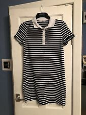 Blue And White Striped T.shirt Dress Size 12