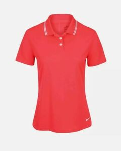 Nike Women's Dri-FIT Victory Golf Polo BV0217-644 Red Size XLarge NWT