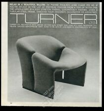 1977 Pierre Paulin modern chair photo Turner LTD furniture NYC vintage print ad
