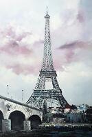 UNIQUE peinture originale, décoration moderne, tableau contemporain Tour Eiffel