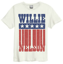Willie Nelson 'Flag' (Natural) T-Shirt - Amp   - NEW & OFFICIAL!