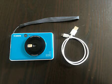 Canon Inspic C 5.0MP Instant Camera - Seaside Blue Incl. 10 Zink Photo Paper
