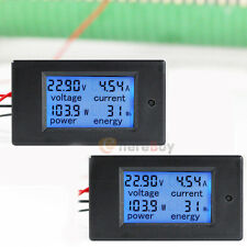 2x DC 20A 7- 100V LCD Digital Watt Current Power Voltage Meter Ammeter Voltmeter