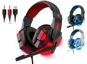 3.5mm Wired Gaming Headset Headphones for Dell HP Chromebook Toshiba Computer PC