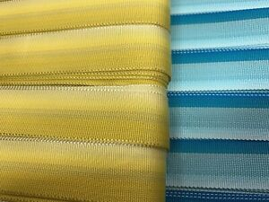 """Vintage Grosgrain Rayon Ribbon Reversible Striped 7/8"""" Trim 1yd Made in USA"""