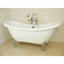 Randolph Morris 70 Inch Acrylic Double Slipper Clawfoot Tub - No Drillings