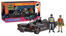 Funko Batman 1966: Batmobile + Batman & Robin - Fully Posable Action Figures NEW